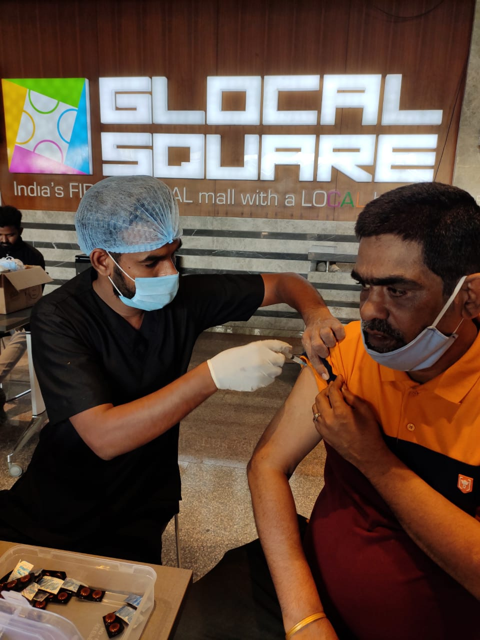 Vaccination Drive Glocal Square Nagpur